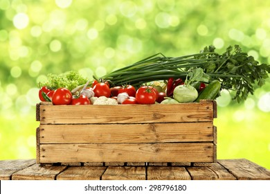 Wood Crate Vegetables Images Stock Photos Vectors Shutterstock