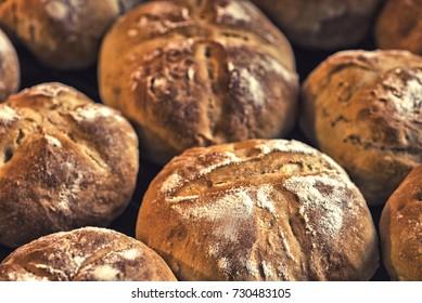 fresh fragrant bread in the morning