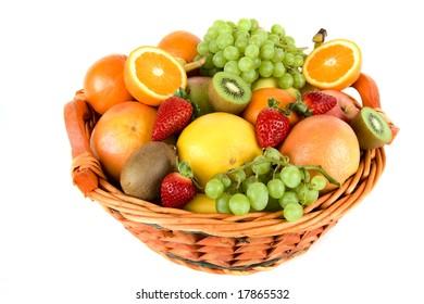 Fresh fruit in the basket