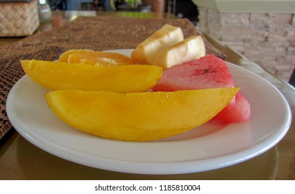 Fresh Fruit, Mango, Watermelon, Papaya