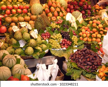 Fresh Fruit on a Market Stall in Italy