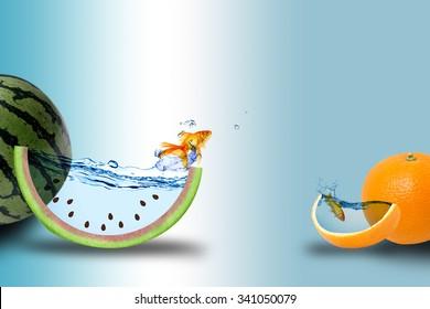 fresh fruit photo manipulation
