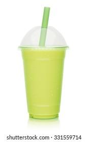 fresh fruit smoothie, shake isolated on white background