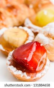 Fresh fruit tart italian pastry