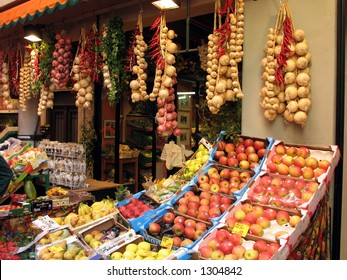 Fresh fruit and vegetables.
