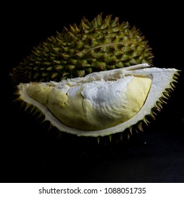 fresh fruite durian the most popular for thai isolate on black