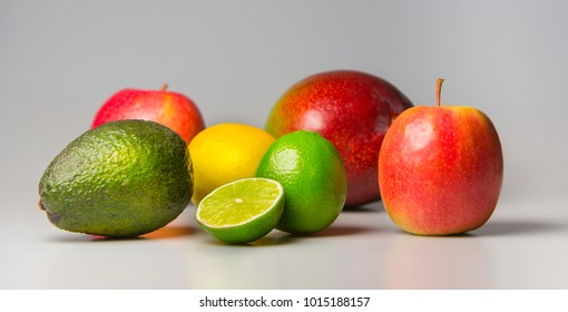 Fresh fruits in all colors