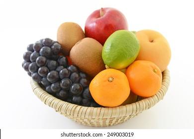 Frisches Obst in einem Korb