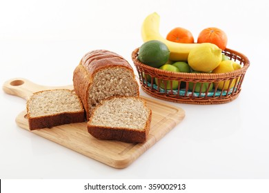 Fresh fruits with breads