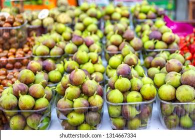 fresh fruits in the Carmel market , Tel Aviv, Israel