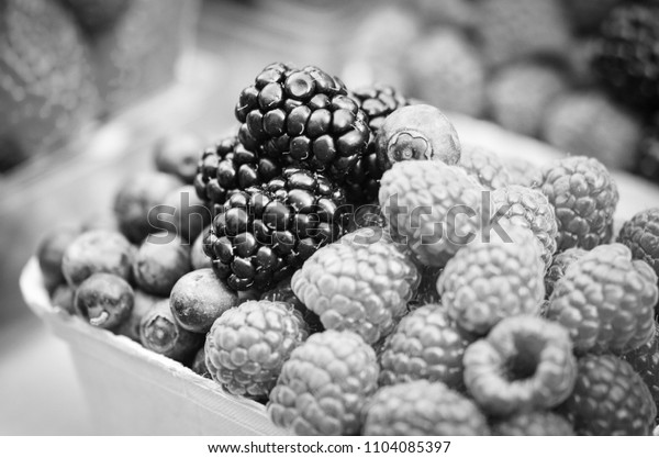 fresh fruits close up - healthy breakfast dish