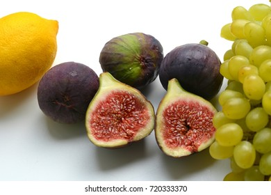 fresh fruits figs and grapes health food