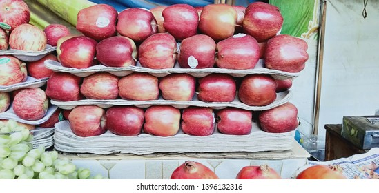 Fresh fruits graps Mango and apple.