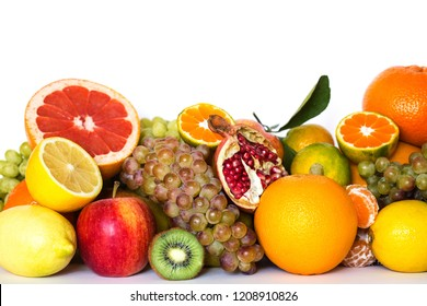 Fresh fruits isolated on a white.
