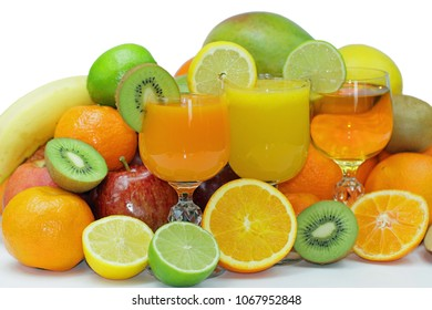 Fresh fruits and juice for spring detoxification