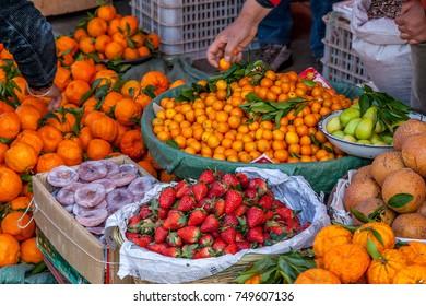 Fresh fruits at market