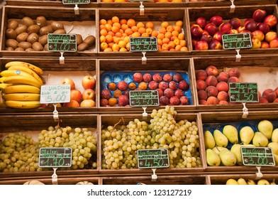 Fresh fruits at the marketplace
