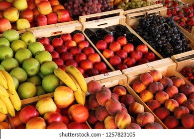 fresh fruits on a market