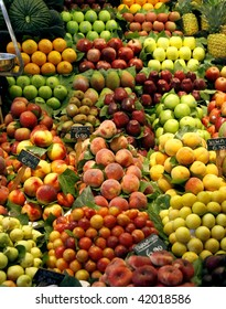 Fresh fruits on the market stall