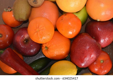 Fresh fruits and vegetables, apples