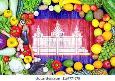 Fresh fruits and vegetables from Cambodia