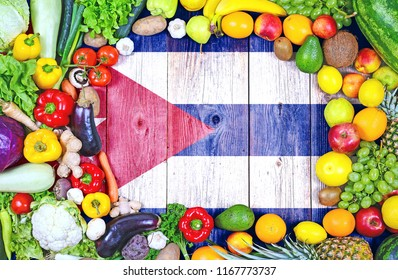 Fresh fruits and vegetables from Cuba