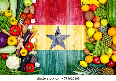 Fresh fruits and vegetables from Ghana