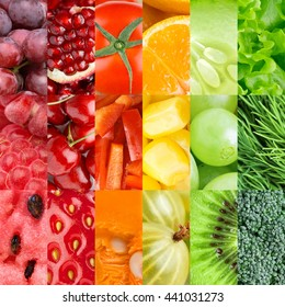 Fresh fruits and vegetables. Healthy food background