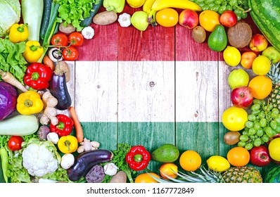 Fresh fruits and vegetables from Hungary
