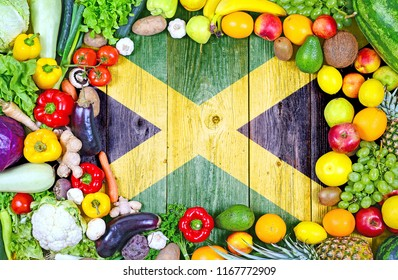 Fresh fruits and vegetables from Jamaica