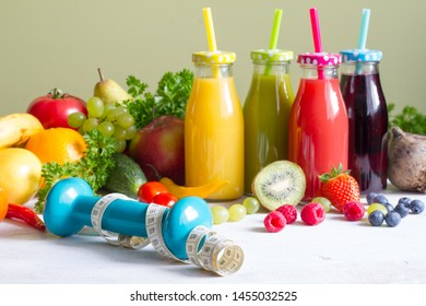 Fresh fruits  and vegetables with juice healthy life style food fitness concept