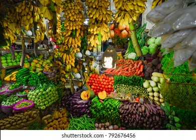 FRESH FRUITS AND VEGETABLES IN NUWARA ELIYA, SRI LANKA.