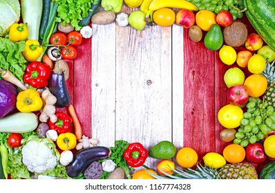 Fresh fruits and vegetables from Peru