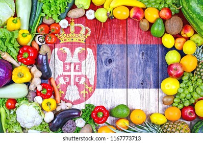 Fresh fruits and vegetables from Serbia