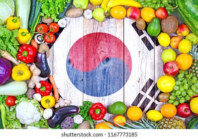 Fresh fruits and vegetables from South Korea