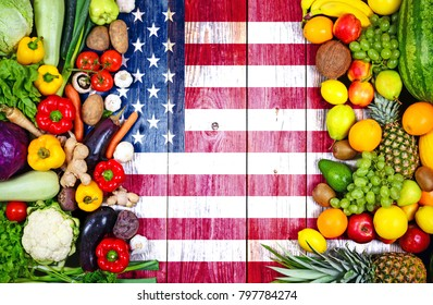 Fresh fruits and vegetables from United States of America
