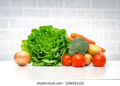 Fresh fruits vegetables.Fresh fruits and vegetables .
