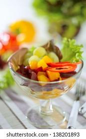 Fresh Fruit-Vegetable Salad