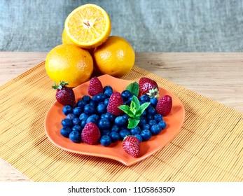 Fresh garden fruits