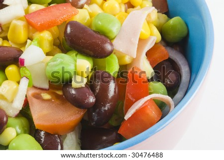 Fresh Garden Salad Colorful Bowl On Stock Photo Edit Now