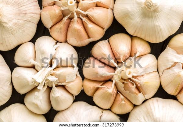 Fresh Garlic Background