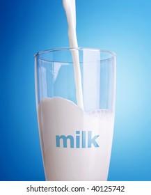 A fresh glass of milk