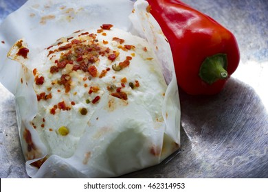 Fresh goat cheese with paprika