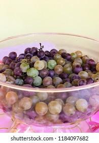 Fresh grape in a bowl - Traditional Brazilian dessert table