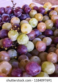 Fresh grape in a bowl - Traditional Brazilian dessert table
