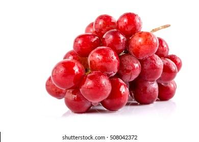 fresh grape on white background.
