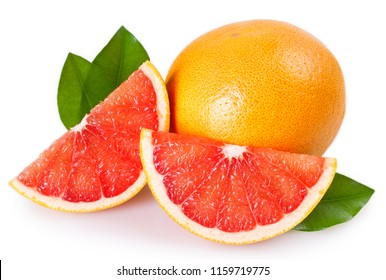 fresh grapefruit isolated on white background