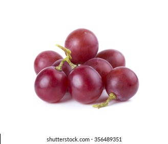 Fresh grapes on a white background.