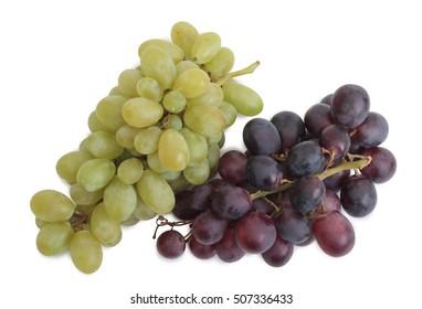 Fresh grapes on white background
