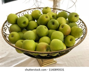 Fresh green apple basket
